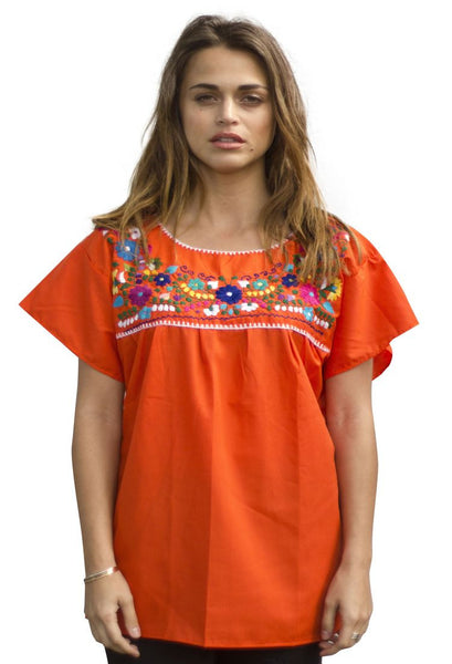 Blouse- Orange - Del Mex - 1