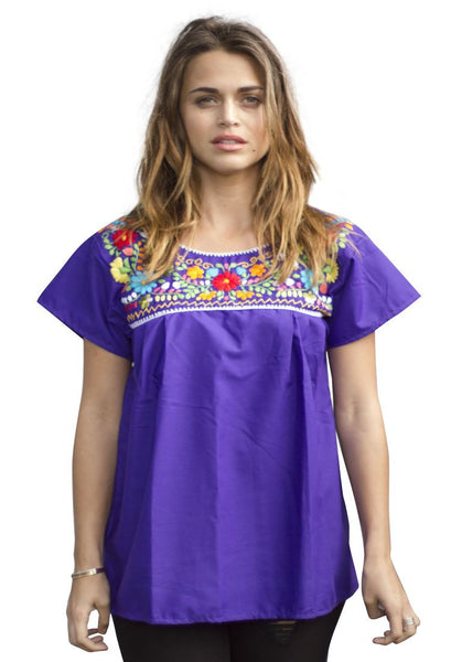 Blouse- Purple - Del Mex - 1