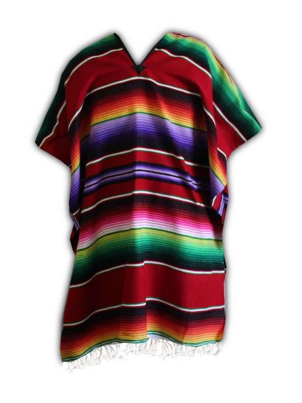 Adult Mexican Serape Poncho