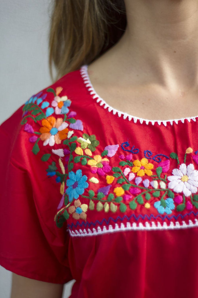 Blouse- Red - Del Mex - 2