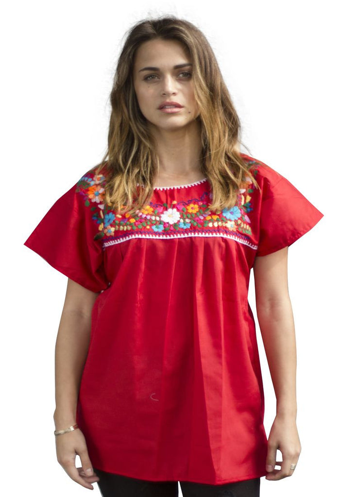 Blouse- Red - Del Mex - 1