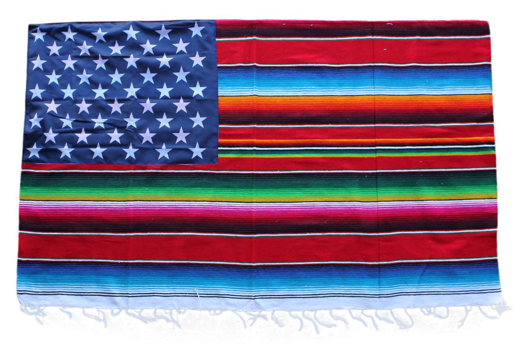Mexican Serape Blanket Flag