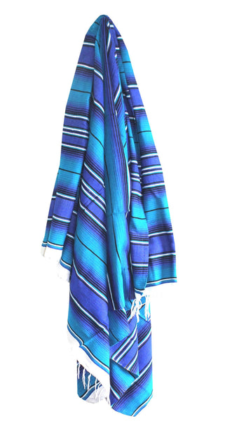 Two Tone Blue Serape - Del Mex - 1