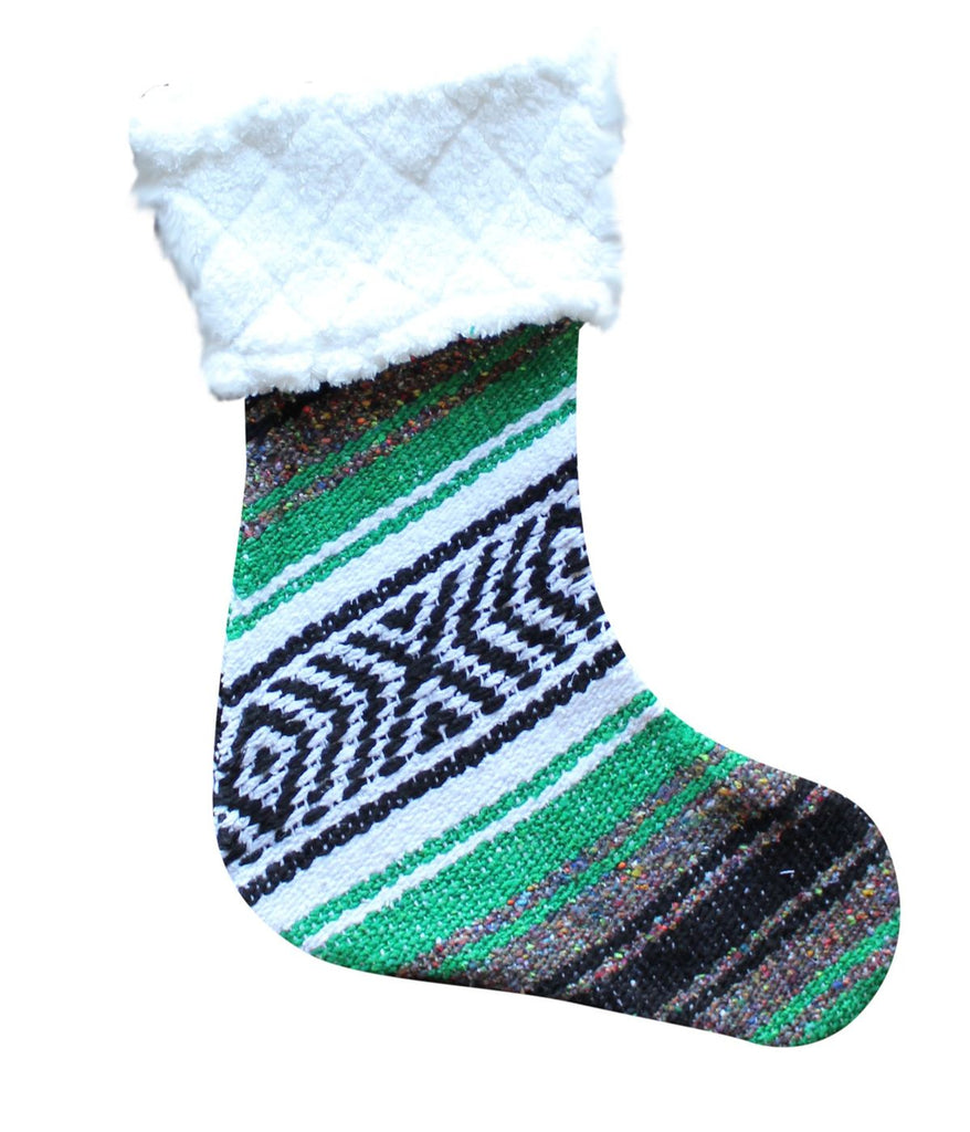 Classic Falsa Christmas Stocking with Sherpa