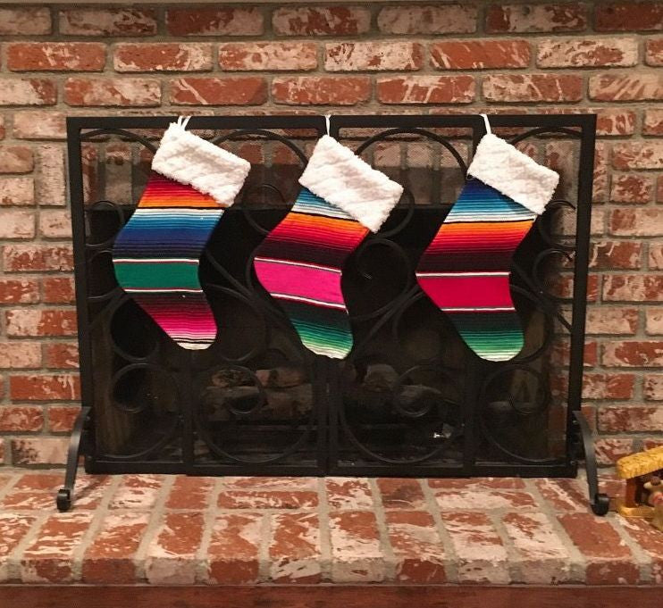 Serape Christmas Stocking - Del Mex - 1