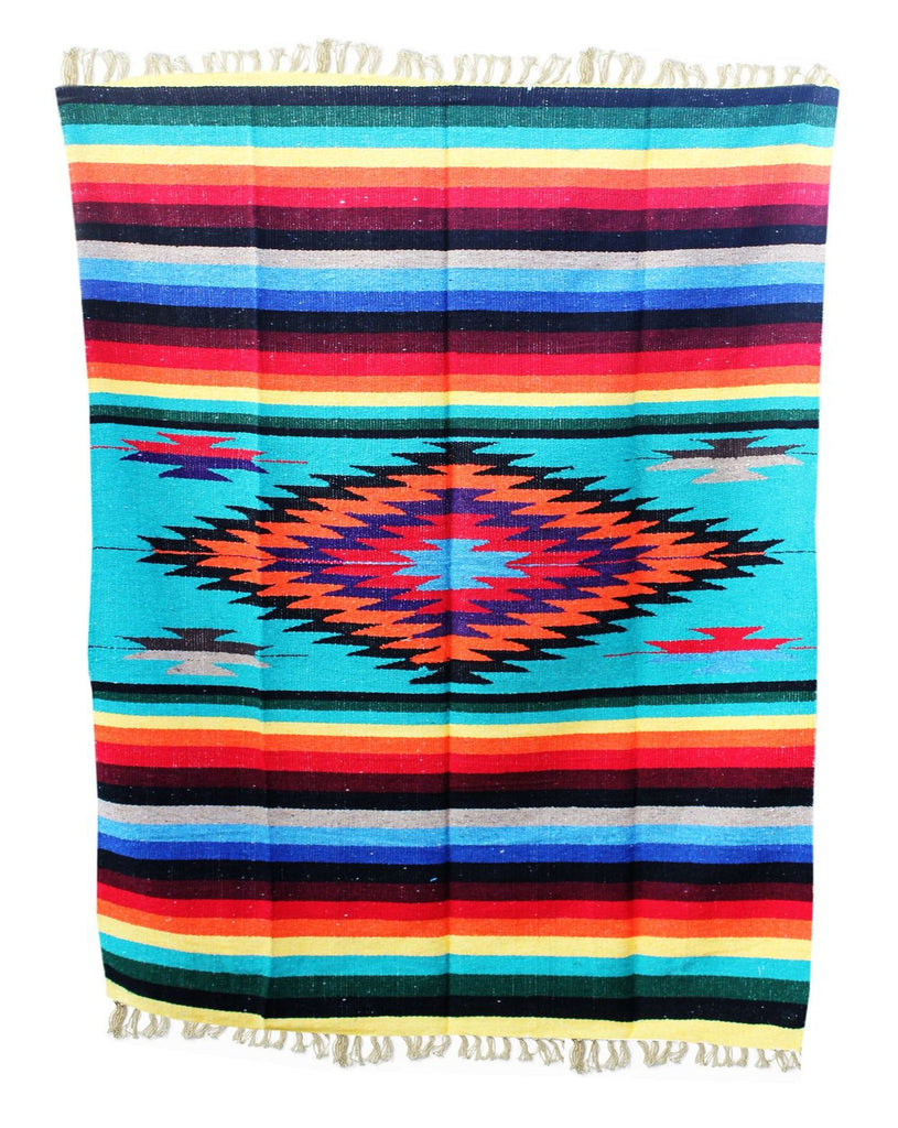 Diamond Blanket- Multi-Teal - Del Mex - 1