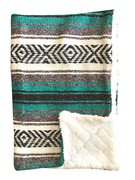 Baja Baby™ Mexican Baby Blanket - Classic Teal - Del Mex