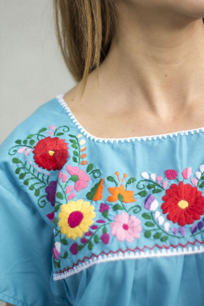 Blouse- Turquoise - Del Mex - 2