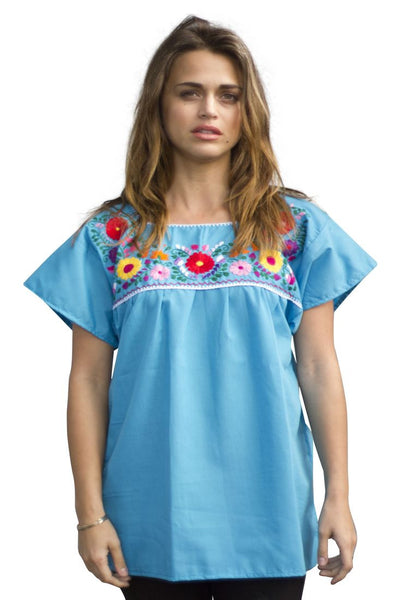 Blouse- Turquoise - Del Mex - 1