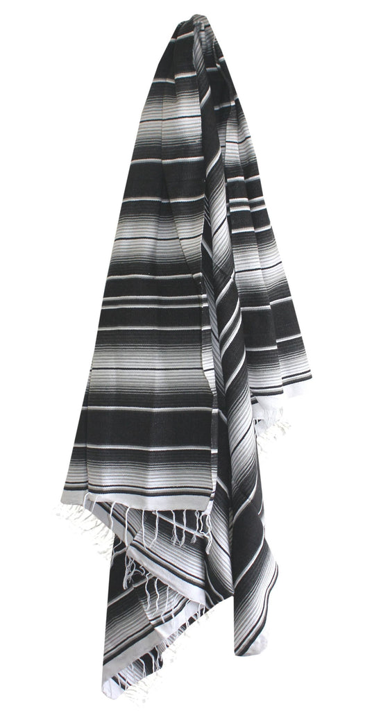 Two Tone Black & Grey Serape - Del Mex - 1
