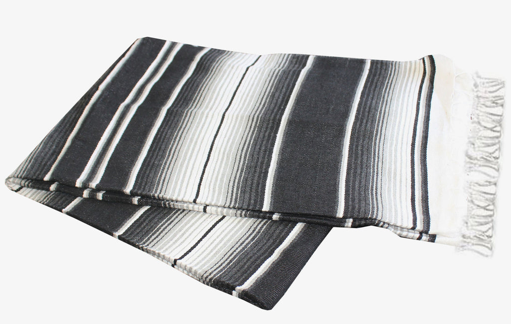 Two Tone Black & Grey Serape - Del Mex - 3