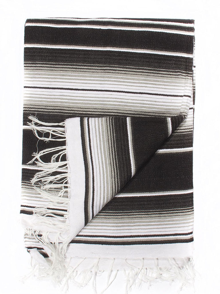 Two Tone Black & Grey Serape - Del Mex - 2