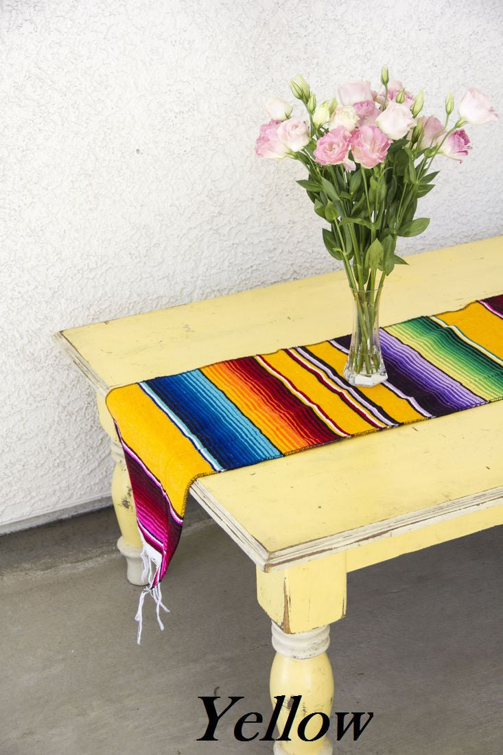Mexican Serape Blanket Table Runner Del Mex
