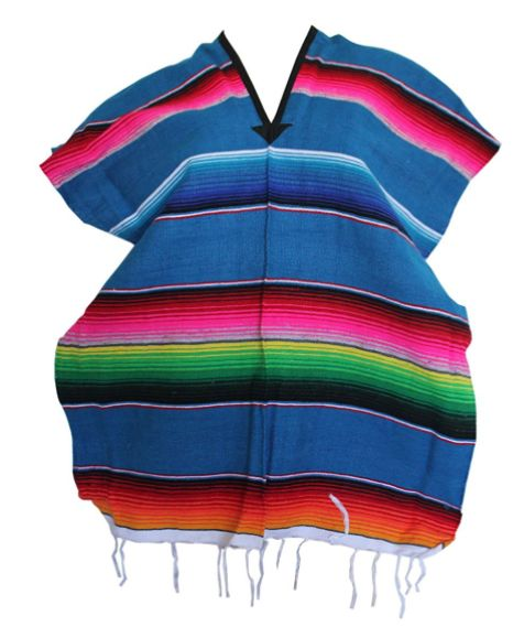 Youth Mexican Serape Poncho