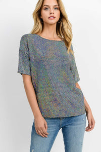 Night Out Sequin Top - The Downtown Dachshund