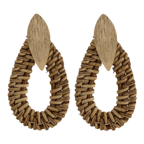 Rattan Earring Collection - The Downtown Dachshund