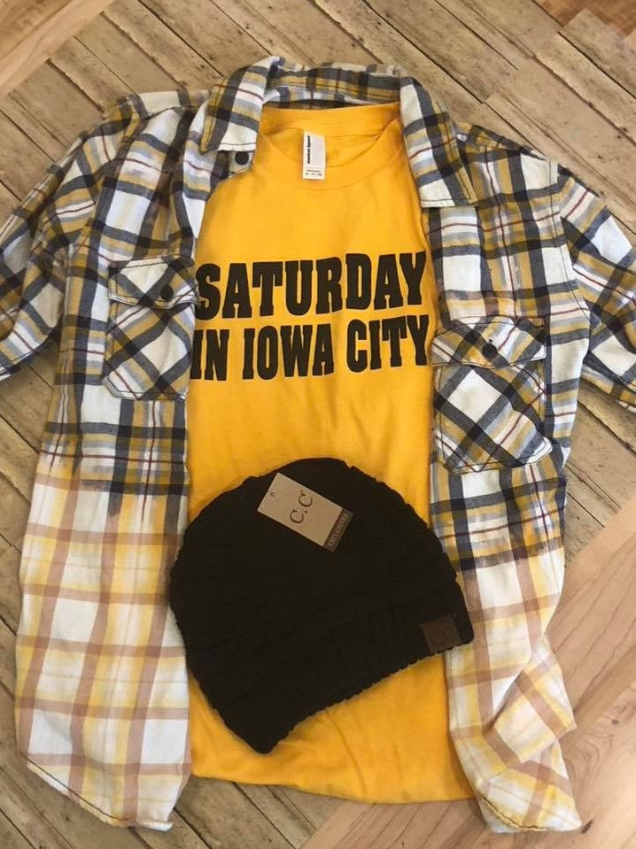 Saturday in Iowa City Tee - The Downtown Dachshund