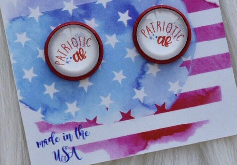 Patriotic AF stud earrings - the-downtown-dachshund