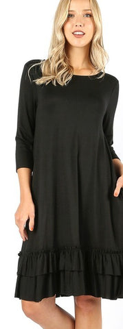 Layering Ruffle Dress S-3XL - The Downtown Dachshund