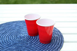 Red Party Cup Tealights - Set of 2 - Battery Operated - The Downtown Dachshund