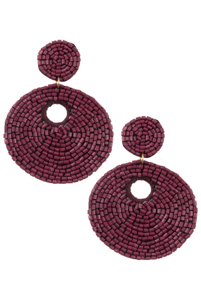 Round Beaded Drop Earrings - The Downtown Dachshund