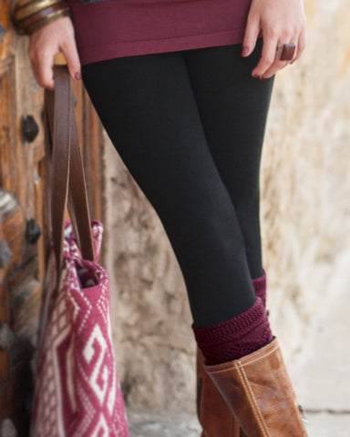 Grace and Lace Jet Black Leggings - The Downtown Dachshund
