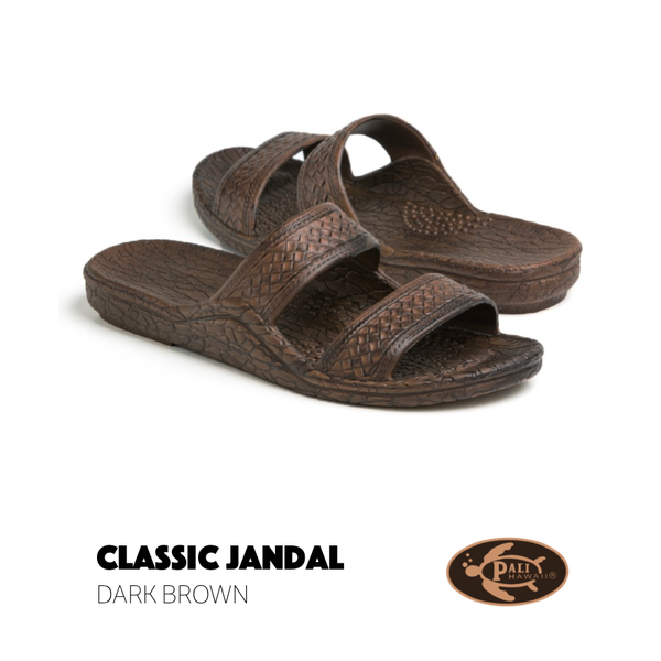 Dark Brown Pali Hawaii Jandals sandals - The Downtown Dachshund