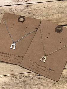 Lucky Little Horseshoe Necklace - The Downtown Dachshund