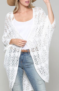 Off White Crochet Cardigan - The Downtown Dachshund