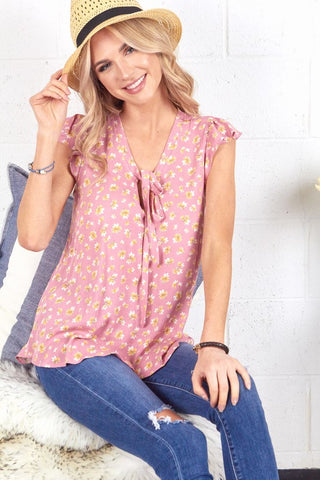 Pink Flower Top - The Downtown Dachshund