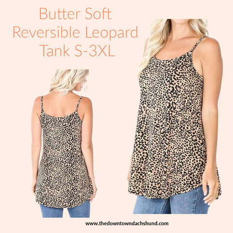 Reversible Leopard Cami - The Downtown Dachshund