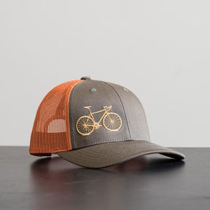 Road Bike Hat Rust-Loden - The Downtown Dachshund