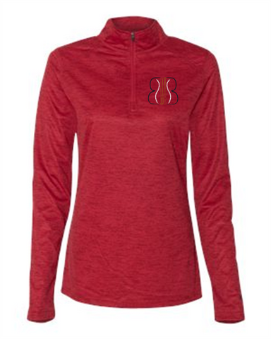 Badger - Women's Tonal Blend Quarter-Zip Pullover