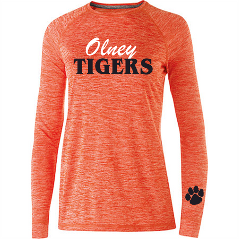 STYLE 222724 LADIES' ELECTRIFY 2.0 SHIRT L/S  Orange Heather