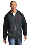 ST269  Sport-Tek® Raglan Colorblock Full-Zip Hooded Fleece Jacket