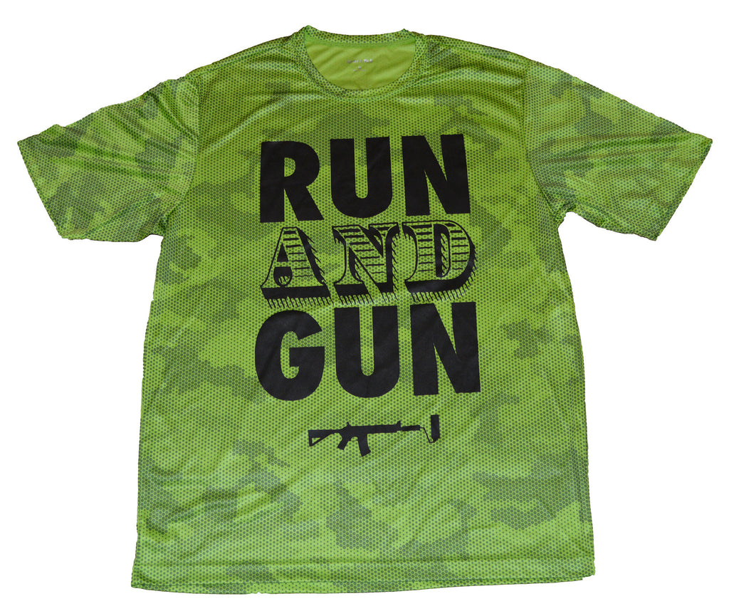 Run And Gun - Lime Camo Hex