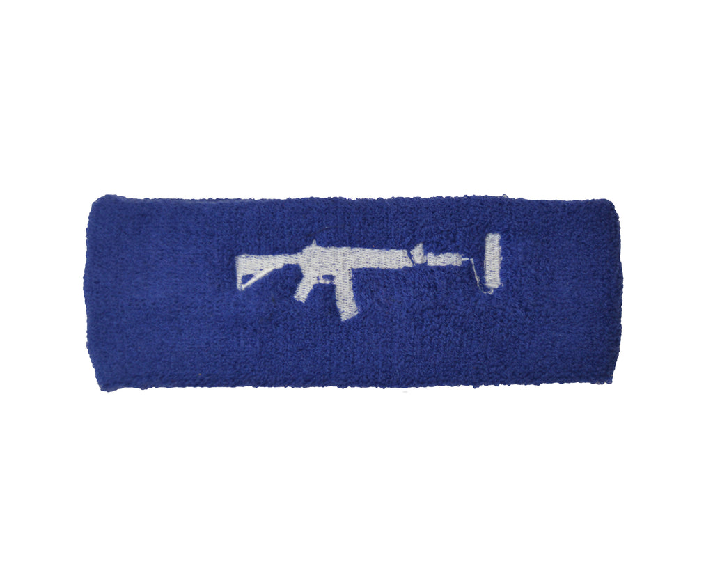 Sweatband - Blue/White