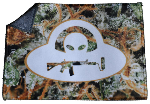 2 Sided Pocket Microfiber Cloth - Alien Dank