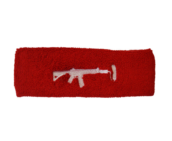 Sweatband - Red/White