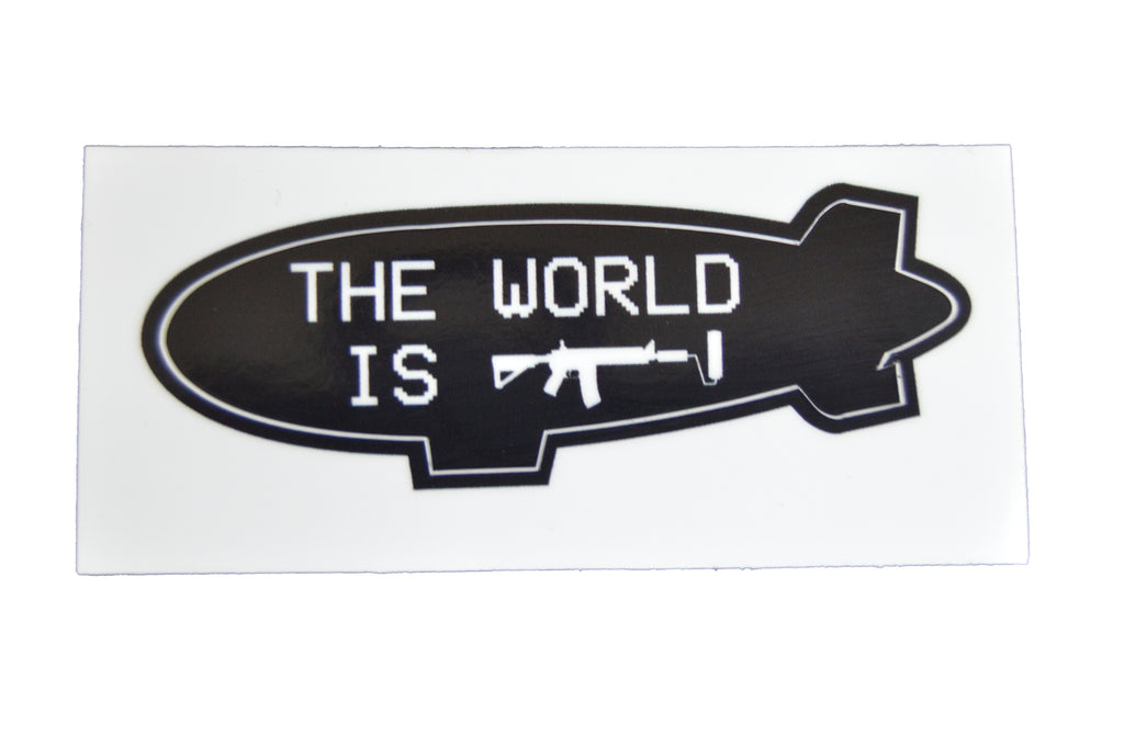 The World is Gun Roller Sticker