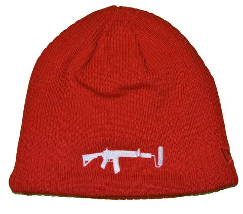 New Era Beanie Red - White