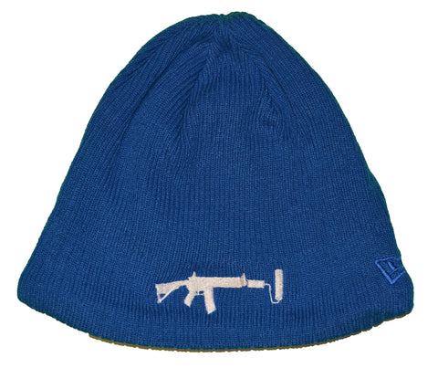 New Era Beanie Blue - White