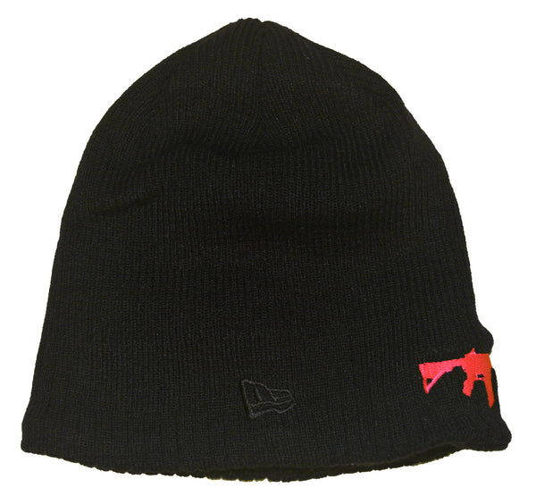 New Era Beanie Black - Hot Pink