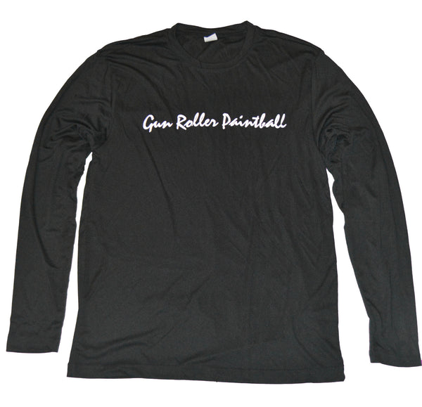 Gun Roller Paintball Performance Longsleeve - Black/White