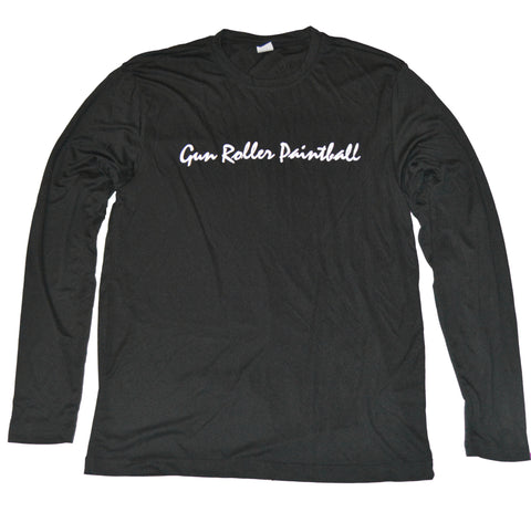 Gun Roller Paintball moisture-wicking performance longsleeve - Black/White