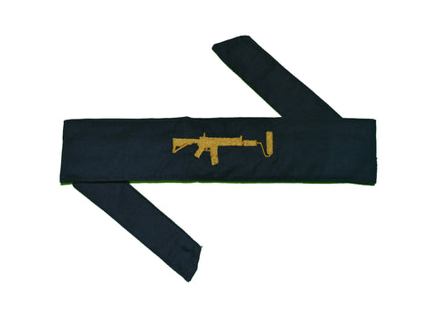 Navy Sandana Headband - Gold