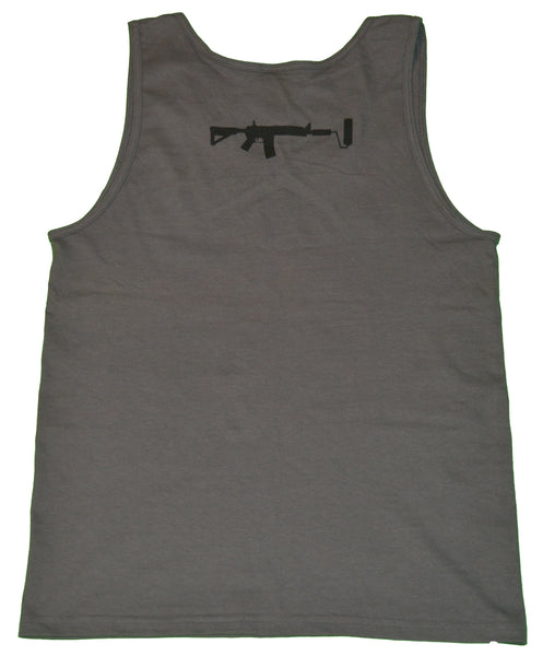 D-Side Hustle Tank top - Charcoal/Black Small