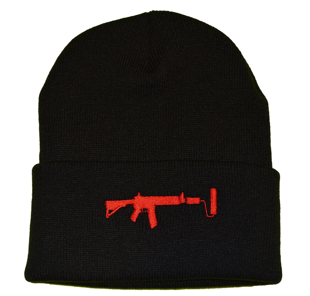 V2 Beanie - Black/Red