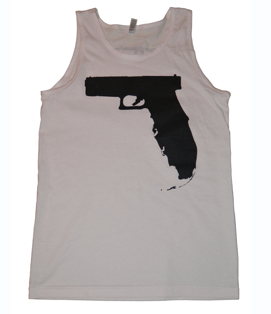 Florida Gun Tank top - White Small