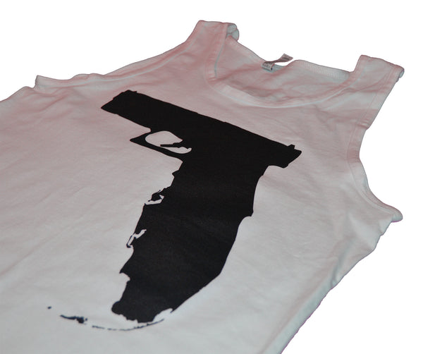 Florida Gun Tank top - White